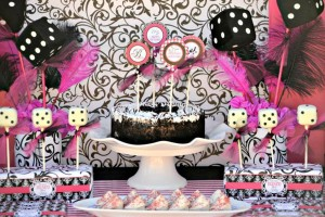 Pink BUNCO themed birthday party via Kara's Party Ideas KarasPartyIdeas.com #pink #bunco #themed #birthday #party #ideas #idea (3)