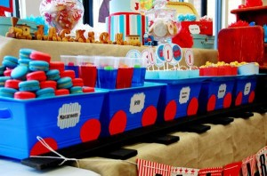 Train themed birthday party via Kara's Party Ideas KarasPartyIdeas.com (1)