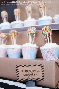Disney's UP themed birthday party via Kara's Party Ideas | KarasPartyIdeas.com #up #themed #birthday #party #planning #ideas #cake #disney #decor #supplies #shop #idea (37)