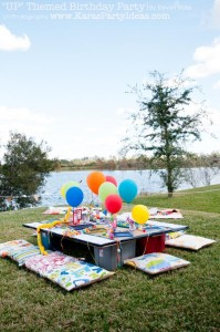 Disney's UP themed birthday party via Kara's Party Ideas | KarasPartyIdeas.com #up #themed #birthday #party #planning #ideas #cake #disney #decor #supplies #shop #idea (36)