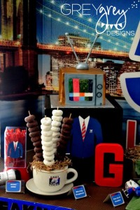Live at FIVE anchorman NEWS themed birthday party via Kara's Party Idesa | KarasPartyIdeas.com (26)