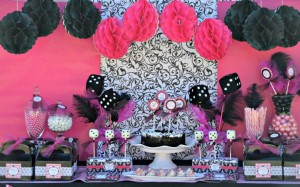 Pink BUNCO themed birthday party via Kara's Party Ideas KarasPartyIdeas.com #pink #bunco #themed #birthday #party #ideas #idea (36)