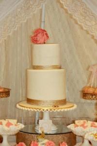 Vintage Peach and Gold baby shower via Kara's Party Ideas KarasPartyIdeas.com #vintage #peach #gold #party #idea #baby #shower (3)