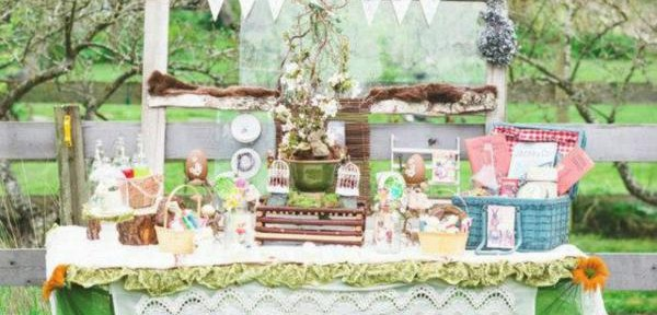Vintage Easter Spring Picnic Party via Kara's Party Ideas | KarasPartyIdeas.com #vintage #easter #picnic #boutique #upcycled (23)