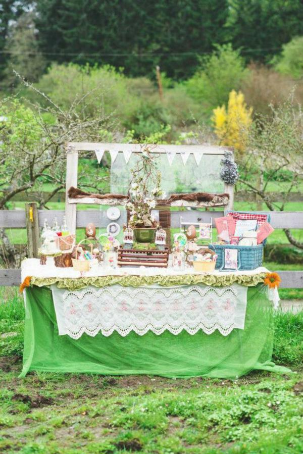 Karas Party Ideas Vintage Spring Easter Picnic Party Planning Idea