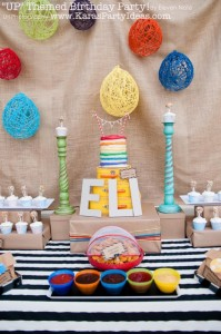 Disney's UP themed birthday party via Kara's Party Ideas | KarasPartyIdeas.com #up #themed #birthday #party #planning #ideas #cake #disney #decor #supplies #shop #idea (24)
