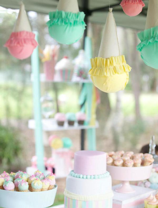 Ice Cream Shoppe Party via Kara's Party Ideas | KarasPartyIdeas.com #ice #cream #shoppe #party #ideas #summer #cake (27)