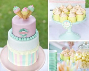 Ice Cream Shoppe Party via Kara's Party Ideas   KarasPartyIdeas.com #ice #cream #shoppe #party #ideas #summer #cake (3)