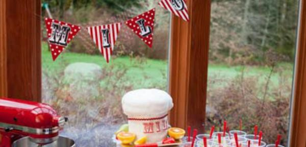 Little Chef cooking themed birthday party via Kara's Party Ideas KarasPartyIdeas.com #chef #cooking #pizza #party #idea (1)