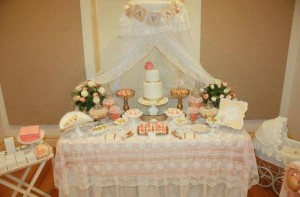 Vintage Peach and Gold baby shower via Kara's Party Ideas KarasPartyIdeas.com #vintage #peach #gold #party #idea #baby #shower (2)