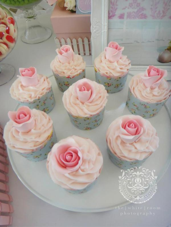 Karas Party Ideas Rose Garden Flower Girl 1st Birthday Party