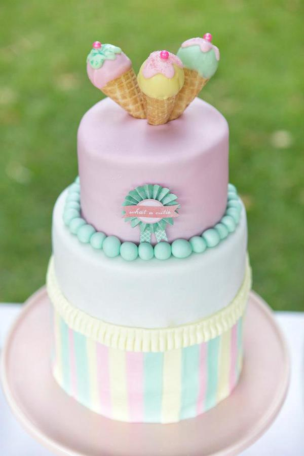 Ice Cream Shoppe Party via Kara's Party Ideas | KarasPartyIdeas.com #ice #cream #shoppe #party #ideas #summer #cake (26)