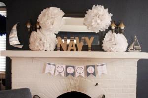 Sailor Girl Nautical Birthday Party via Kara's Party Ideas | KarasPartyIdeas.com #sailor #nautical #girl #navy #party #ideas (42)