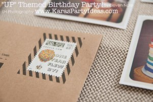 Disney's UP themed birthday party via Kara's Party Ideas | KarasPartyIdeas.com #up #themed #birthday #party #planning #ideas #cake #disney #decor #supplies #shop #idea (18)