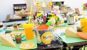 Fruit garden themed birthday party via Kara's Party Ideas! KarasPartyIdeas.com #unique #party #ideas #birthday #garden #fruit #spring #cake #cupcakes #idea (60)