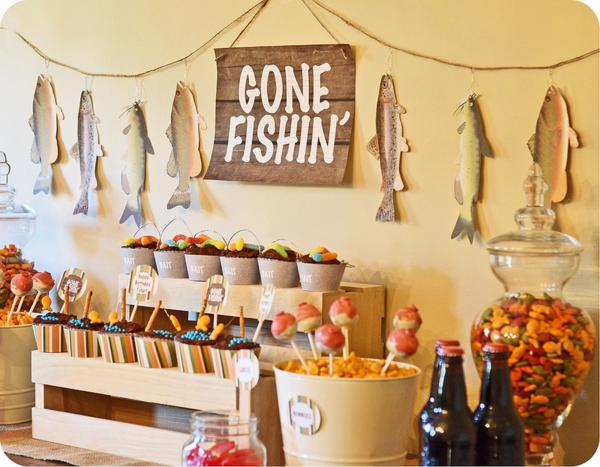 Kara 39 s party ideas gone fishin 39 fisherman boy birthday for Fishing themed party supplies