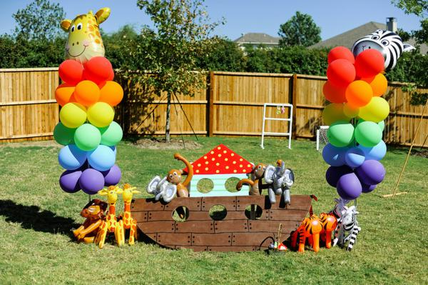 Kara's Party Ideas Noah's Ark Animal Rainbow Twins Birthday Party Cake Planning Ideas