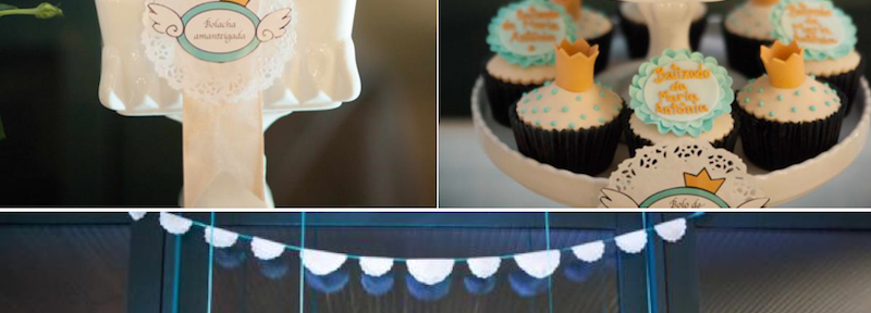 Angel Prince themed christening or 1st birthday party via Kara's Party Ideas | KarasPartyIdeas.com (1)