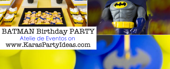 BATMAN themed birthday party via Kara's Party Ideas KarasPartyIdeas.com #batman #birthday #party #ideas #cake #decorations #cupcakes #favors #idea #boy