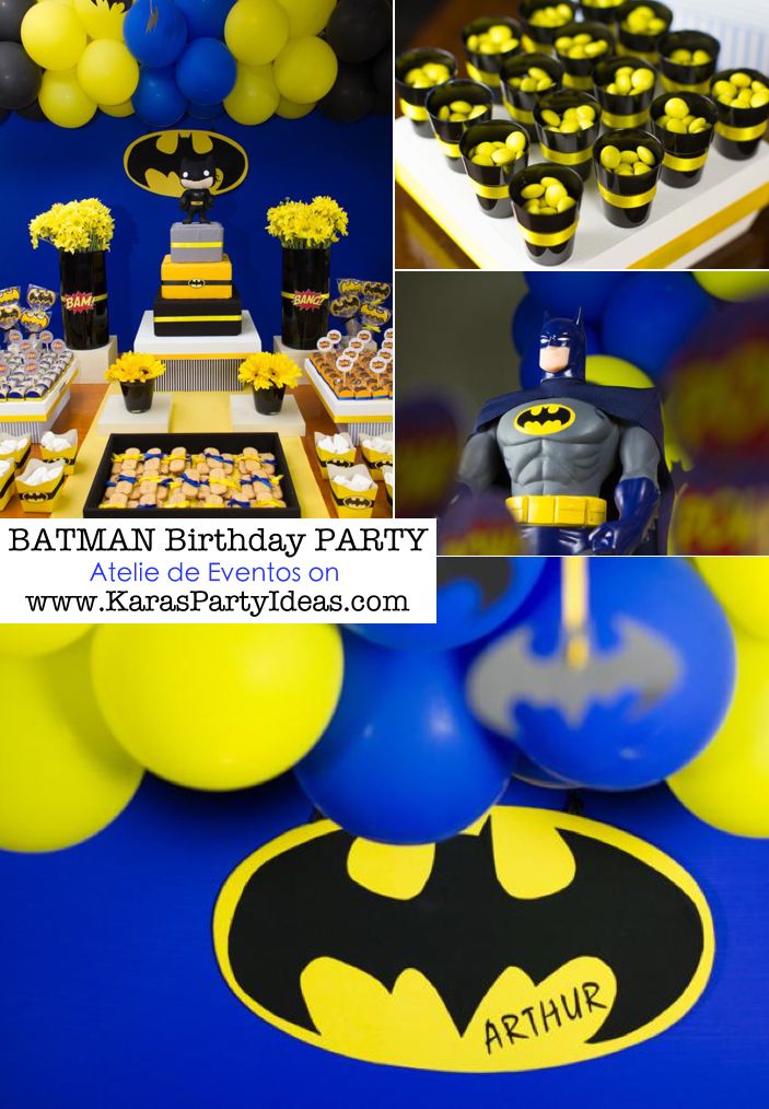 Karas Party Ideas Batman Boy Superhero 3rd Birthday Planning Decorations