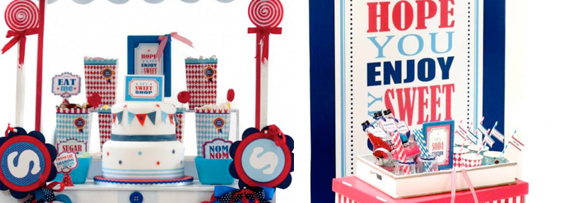Boy themed Sweet Shoppe Candy Shop party via Kara's Party Ideas KarasPartyIdeas.com #candy #shoppe #shop #sweet #boy #birthday #party (1)