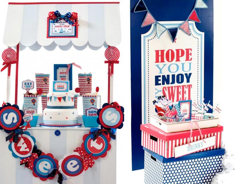 Boy themed Sweet Shoppe Candy Shop party via Kara's Party Ideas KarasPartyIdeas.com #candy #shoppe #shop #sweet #boy #birthday #party