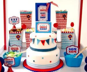 Boy themed Sweet Shoppe Candy Shop party via Kara's Party Ideas KarasPartyIdeas.com #candy #shoppe #shop #sweet #boy #birthday #party (4)