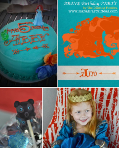 Brave themed birthday party via Kara's Party Ideas | KarasPartyIdeas.com #brave #disney #movie #themed #party #ideas #decorations #idea #cake #cupcakes #favors #girl #supplies