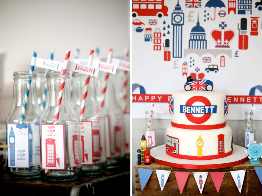 British inspired Keep Calm birthday party via Kara's Party Ideas KarasPartyIdesa.com #british #birthday #party #keep #calm #ideas