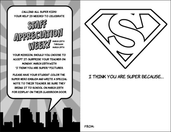 Ideas Superhero Themed Staff Teacher Appreciation Week Planning