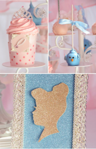 Cinderella themed birthday party via Kara's Party Ideas KarasPartyIdeas.com