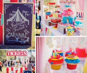 Circus Carnival themed birthday party via Kara's Party Ideas KarasPartyIdeas.com