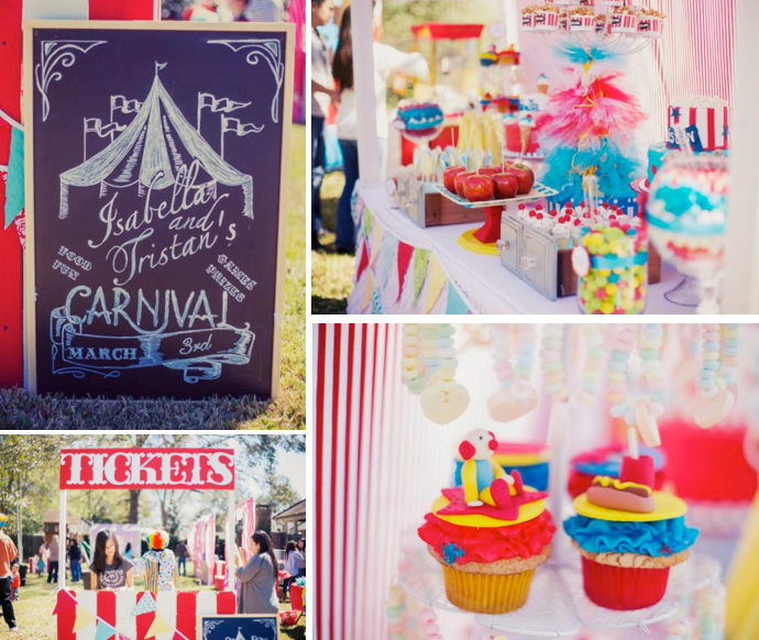 Wonderful Carnival Theme Decoration Ideas Part - 6: Circus Carnival Themed Birthday Party Via Karau0027s Party Ideas  KarasPartyIdeas.com