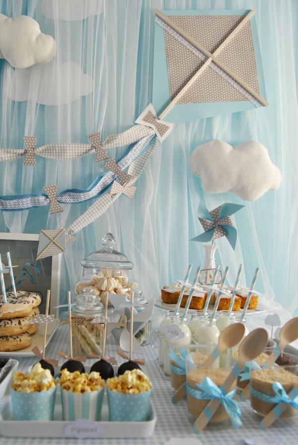 Kara 39 s party ideas kite flying up in the clouds baby for Novedades para baby shower