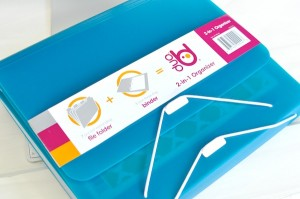 Duo Binder Organizer Folder 3 ring Filing system via Kara's Party Ideas | KarasPartyIdeas.com (1)