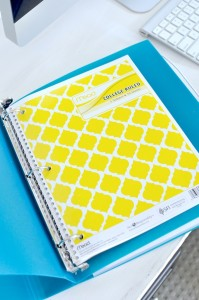 Duo Binder Organizer Folder 3 ring Filing system via Kara's Party Ideas | KarasPartyIdeas.com (2)