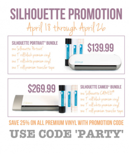 Discount Code Kara's Party Ideas Silhouette Portrait Giveaway April Promo