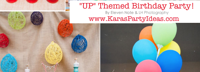 Disney's UP themed birthday party via Kara's Party Ideas | KarasPartyIdeas.com #up #themed #birthday #party #planning #ideas #cake #disney #decor #supplies #shop #idea (1)