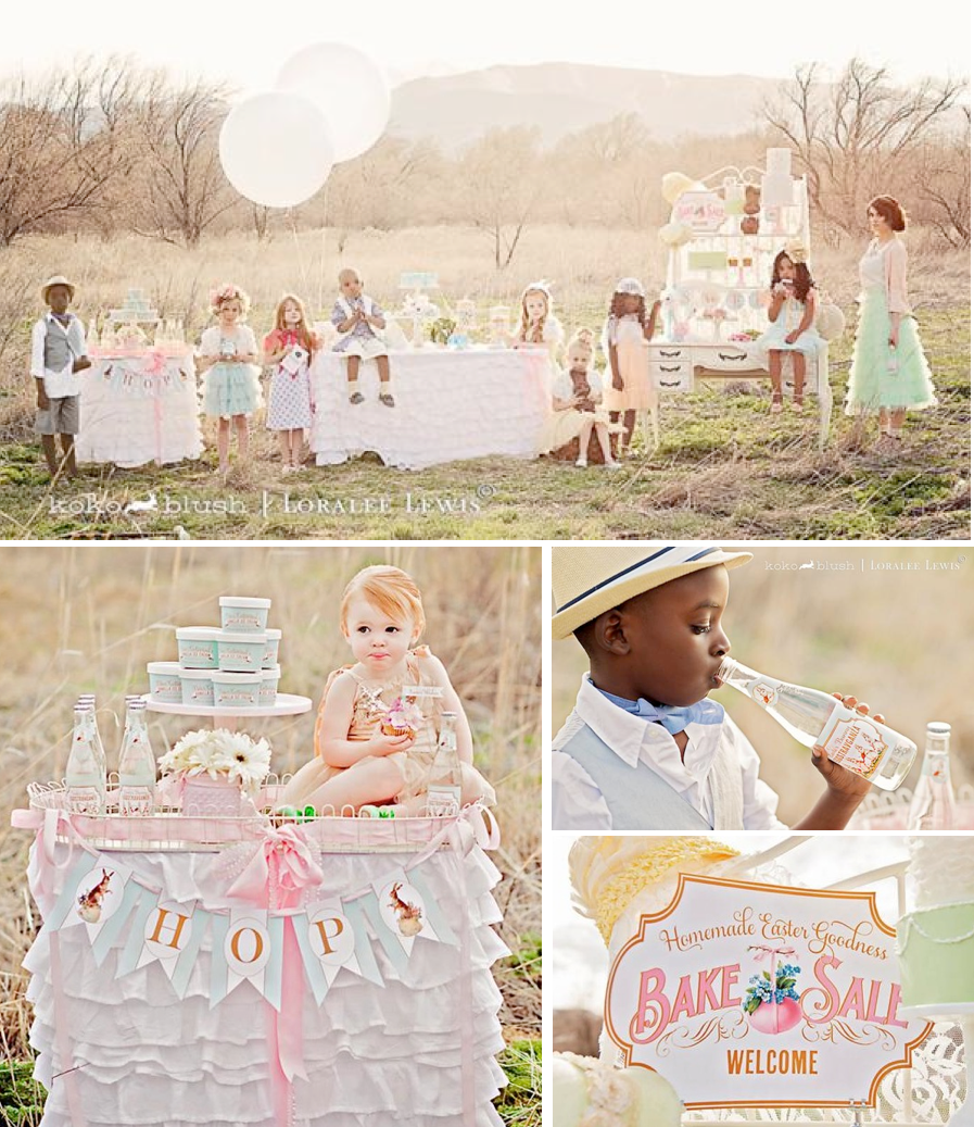 Easter themed vintage bake sale party via Kara's Party Ideas | KarasPartyIdeas.com #easter #vintage #bake #sale #party #spring #vintage #ideas