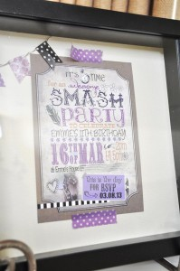 SMASH themed Scrapbooking birthday party via Kara's Party Ideas KarasPartyIdeas.com #scrapbooking #party #ideas #get #together #girls #night #birthday #theme #supplies #shop #idea (15)