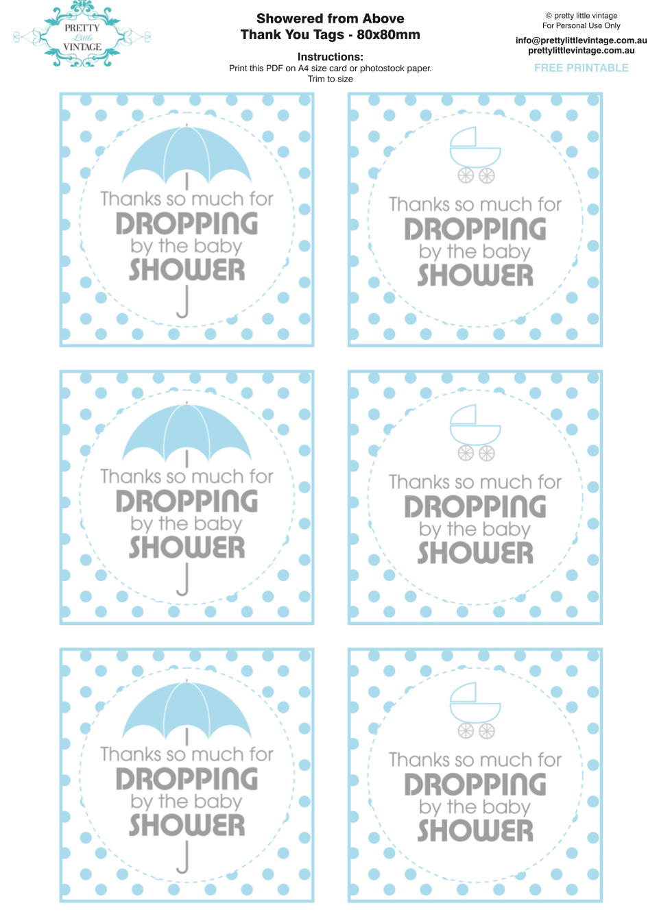 Kara39s party ideas showered from above rain boy baby shower printables planning ideas for Printable baby shower tags