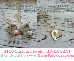 GIVEAWAY $100 in Custom Jewelry by Shay Designs on Kara's Party Ideas | KarasPartyIdesa.com #jewelry #stamped #giveaway (1)