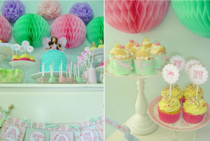 Girly Pastel Princess themed birthday party via Kara's Party Ideas | KarasPartyIdesa.com #princess #birthday #party #planning #ideas #cake #decorations #supplies #idea