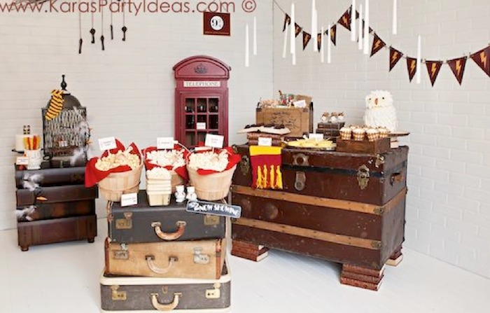 Harry potter themed birthday party in parenting magazine by kara allen