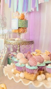 Whimsical Mermaid Birthday Party via Kara's Party Ideas | KarasPartyIdeas.com #mermaid #birthday #party #ideas #cake #supplies (17)