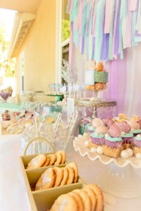 Whimsical Mermaid Birthday Party via Kara's Party Ideas | KarasPartyIdeas.com #mermaid #birthday #party #ideas #cake #supplies (27)