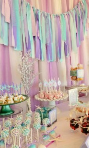 Whimsical Mermaid Birthday Party via Kara's Party Ideas | KarasPartyIdeas.com #mermaid #birthday #party #ideas #cake #supplies (16)