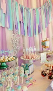 Whimsical Mermaid Birthday Party via Kara's Party Ideas | KarasPartyIdeas.com #mermaid #birthday #party #ideas #cake #supplies (26)