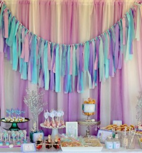 Whimsical Mermaid Birthday Party via Kara's Party Ideas | KarasPartyIdeas.com #mermaid #birthday #party #ideas #cake #supplies (15)