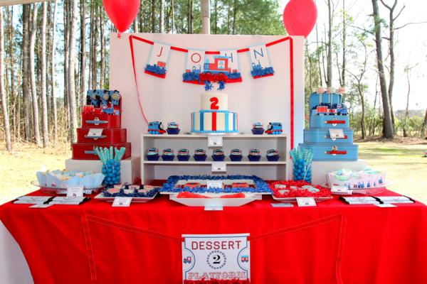 Karas Party Ideas Thomas Train Boy Cake 2nd Birthday Party Planning ...